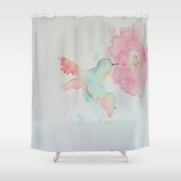 Hungry Hummingbird Shower Curtain