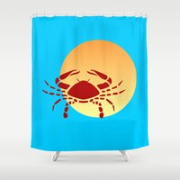 cancer Shower Curtains featuring Cancer by Geni