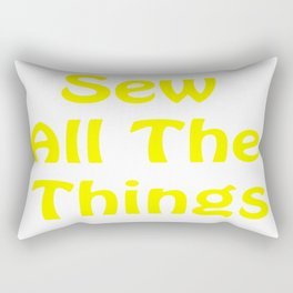 Sew All the Things in Yellow Rectangular Pillow