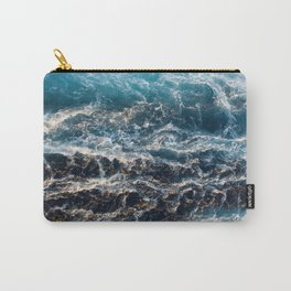 Gradient Blue Ocean Waves  Carry-All Pouch