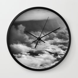 Wave of Clouds Wall Clock
