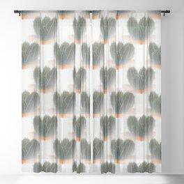 Cactus pot Sheer Curtain