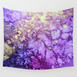 Touch of Gold_Violet Wall Tapestry