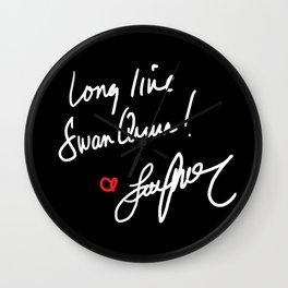Long live Swan Queen! Wall Clock