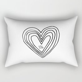 All Day. Every Day. Heartbeats for NYC. Rectangular Pillow
