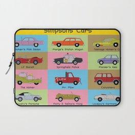 Simpsons Cars Laptop Sleeve