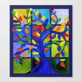 Tree of Life, dark background Canvas Print