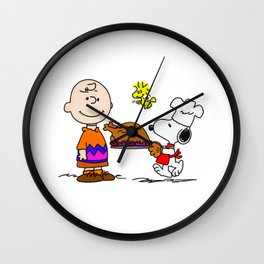 Snoopy Make Cook Wall Clock