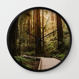 Muir Woods | California Redwoods Forest Nature Travel Photography Wall Clock