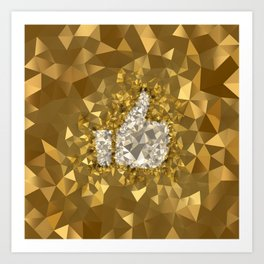 POLYNOID Like / Gold Edition Art Print