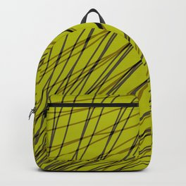 Rays of golden light with mirrored dark waves on diagonal. Backpack