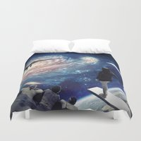swimming Duvet Covers featuring Swimming Pool by Cs025