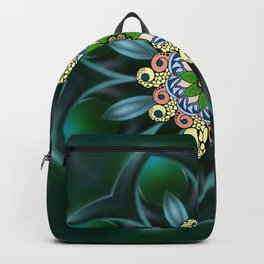 Rocky Flower Mandala Backpack