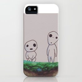Watercolor Kodama - Princess Mononoke iPhone Case