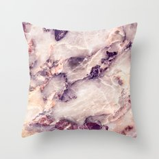 Pink marble texture effect Throw Pillow