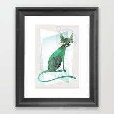 Mid-Century Feline Framed Art Print