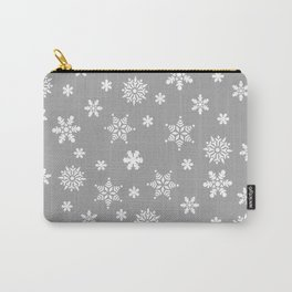 Snow Flurries-Light Gray Carry-All Pouch