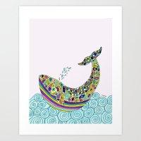 Whale Tune Art Print