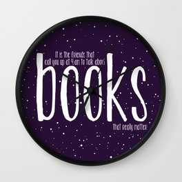 Late Night Reading Wall Clock