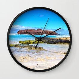 Santa Maria Wreck Cape Verde Wall Clock