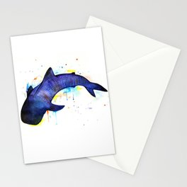 Whale shark, watercolour Stationery Cards