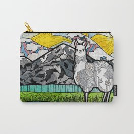 Llama and Andes Carry-All Pouch