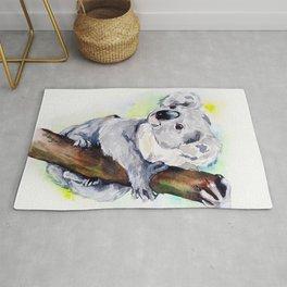Koala watercolor by Anne Gorywine Rug