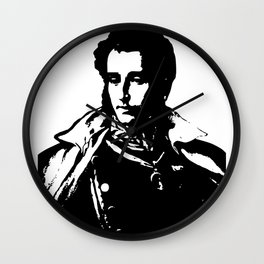 Napo in Black and White Wall Clock