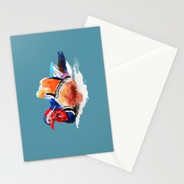 Colorful mandarin duck Stationery Cards