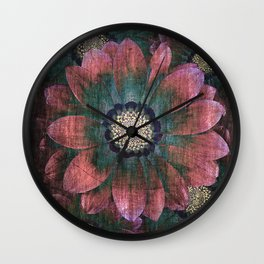 hippie flowers Wall Clock