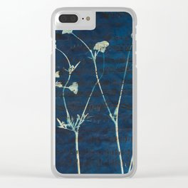 Buttercup Song - Cyanotype on Sheet Music Clear iPhone Case