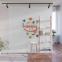This is my HAPPY shirt! Wall Mural