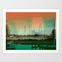 Memory Of A Town Art Print