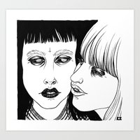 lovers Art Prints featuring Lovers by Cannibal Malabar