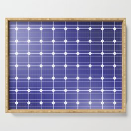 In charge / 3D render of solar panel texture Serving Tray