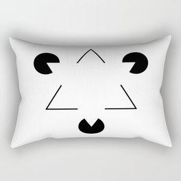 Kanizsa triangle Rectangular Pillow