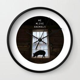 We #LOVE Animals - Piggy Wall Clock