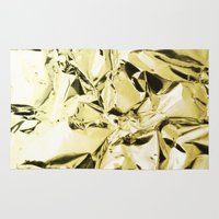gold foil Area & Throw Rugs featuring Gold foil by lamottedesign