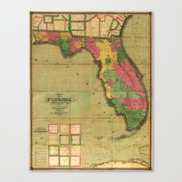 Map of Florida (1829) Canvas Print