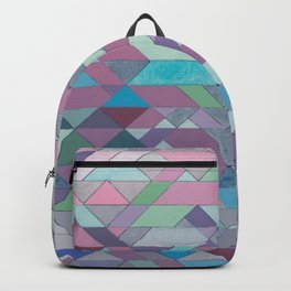 Triangle Pattern no.3 Violet Backpack