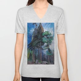 Emily Carr - Wind in the Tree Tops - Canada, Canadian Oil Painting - Group of Seven Unisex V-Neck