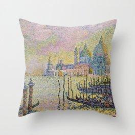 Grand Canal (Venice) - Paul Signac Throw Pillow