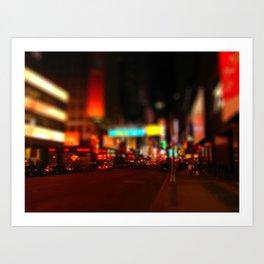 tilt shift new york city Art Print