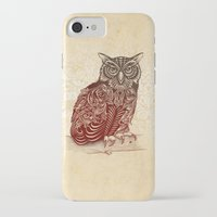 ornate iPhone & iPod Cases featuring Most Ornate Owl by Rachel Caldwell