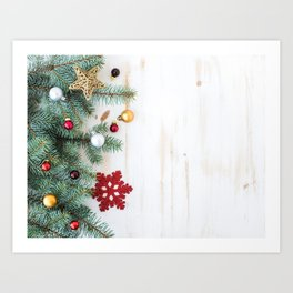Christmas Decoration 01 Art Print