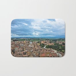 Siena, Italy - from above Bath Mat