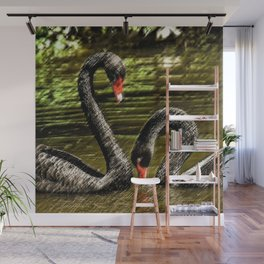 Black Swans Central Park Wall Mural