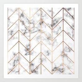 Marble Geometry 057 Art Print