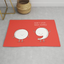 positive punctuation Rug
