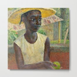 African American Masterpiece 'Ancilla with an Orange' by Dod Procter Metal Print